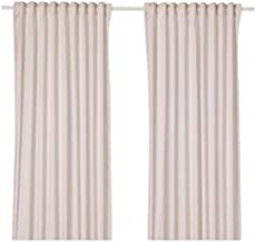 IKEA Cotton Solid Pattern, Pink - Pair Curtain Panels