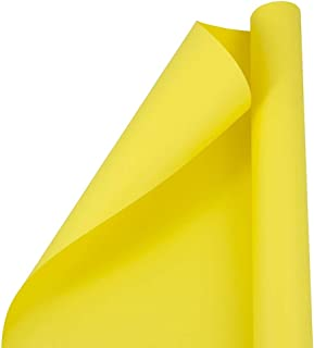 JAM PAPER Gift Wrap - Matte Wrapping Paper - 25 Sq Ft - Matte Yellow - Roll Sold Individually