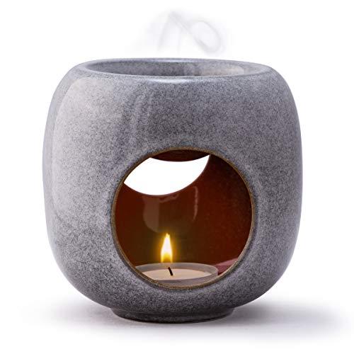 Kaloogo® Sabai Scent Pure - Keramik Duftlampe/Duftlicht - Aschgrau