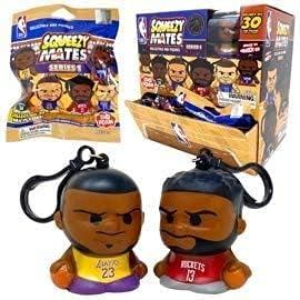 Party Animal - 4 Pack Bundle - Squeezymates NBA Basketball Series 1 Mystery Blind Pack Bag Figure Slofoam Keychain