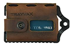 Made in the USA Leather metal wallet fits 3-10 cards and 1-5 bills Rugged stainless-steel frame wrapped in top-grain oil-tanned leather Packed with features including integrated money clip, convenient bottle opener, RFID protection, and attachment po...