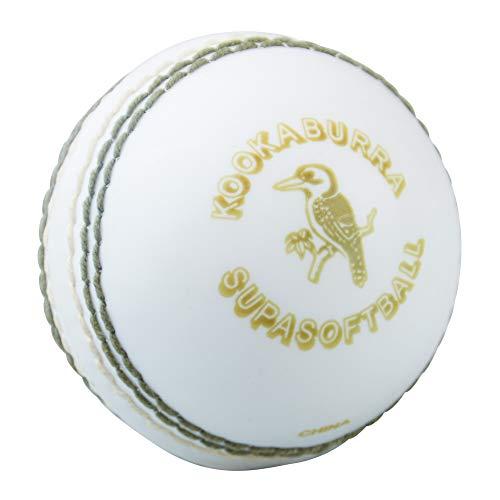 Kookaburra - Palla da cricket super Softa, unisex, colore: Bianco