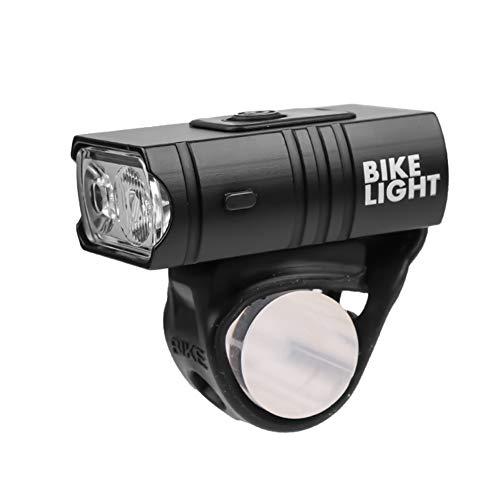 SHIZIZUO Conjunto de luces de bicicleta, faros de bicicleta, T6 LED bicicleta luz 10 W 800LM 6 modos USB recargable MTB lámpara delantera