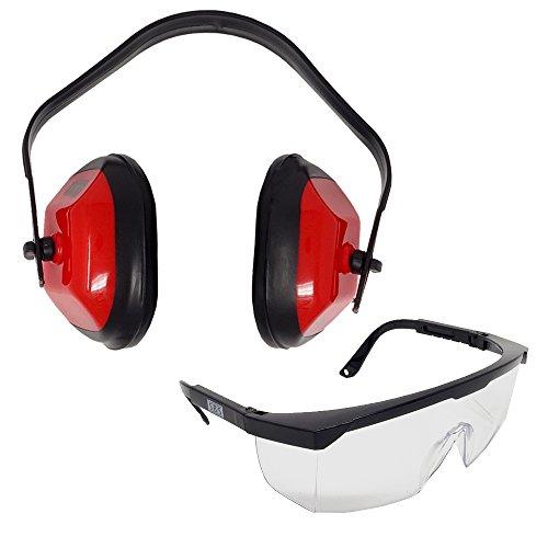 SBS Arbeitsschutz Set Gehörschutz + Schutzbrille ▬ Kapselgehörschutz Sicherheitsbrille