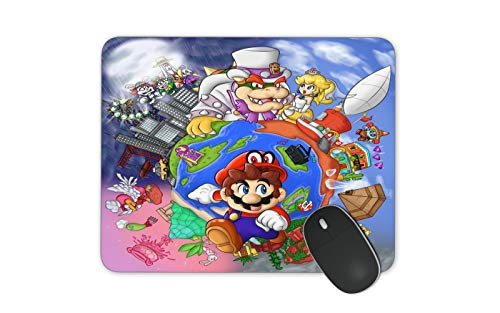 JNKPOAI Cute Super Mario Print Mouse Pad Personalized Design of Office Game Mouse Pad Cartoon Mouse Pad with Clear Design (Super Mario#4)