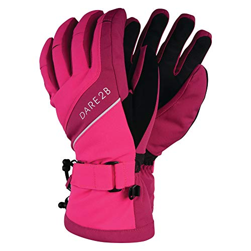 Dare 2b Damen Merit Waterproof & Breathable Thinsulate Lined & Insulated Ski & Snowboard Glove with Textured PU Palm and Fingertips Handschuhe, Cyber Pink/Fuchsia Pink, m