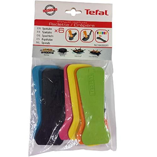 Tefal XA900203 Raclette-Schaber, 6 Stück (Mehrfarbig)