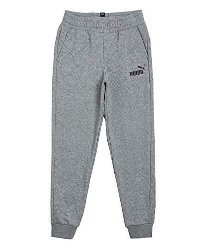 PUMA Jungen ESS Logo Pants TR cl B Jogginghose, Medium Gray Heather, 176