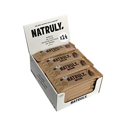 Energy Riegel Natural Athlete, 100% Natürlich und Bio, Glutenfrei, Vegan, Ohne Zuckerzusatz, Pack 12x40g (Kakao)