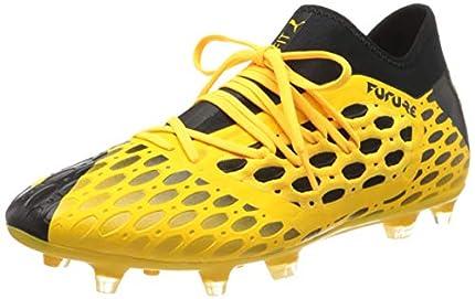 Puma - Future 5.3 Netfit FG/AG, Botas de fútbol Hombre, Amarillo (Ultra Yellow-Puma Black 03), 42.5 EU