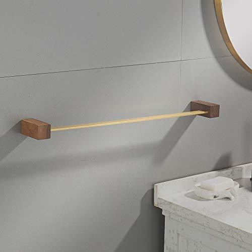 ETH Bruin Enkele Bar Handdoek Rack Handdoek Rack Messing Badkamer Rack Wandopknoping Handdoek Bar Zwart Walnoot Hout Badkamer Handdoek Ophangbaar duurzaam