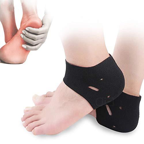 La Fascitis Plantar Calcetines for la tendinitis de Aquiles Callos Spurs pies agrietados Alivio del Dolor Cojines del talón Amortiguador del Cuidado de los pies Insertar Pad (Color : Free Size)