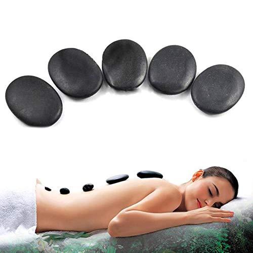 Hot Stone Set, 12 Stück 3x4 cm Lava Naturenergie Massagestein Vulkanischer Hot Stone SPA Öl Massagestein