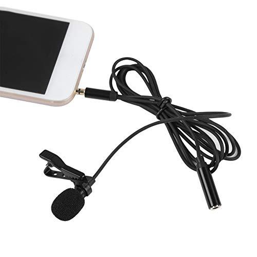 Socobeta Lavalier Mikrofon mit Clip Einfach zu speichern Nützlich für Handy für Mikrofon