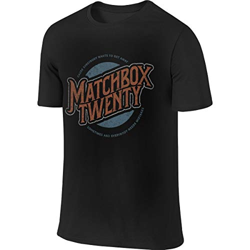 Matchbox Twenty Logo Band Men Comfortable Cotton Round Neck Short Sleeve T-Shirt, Shirt Black