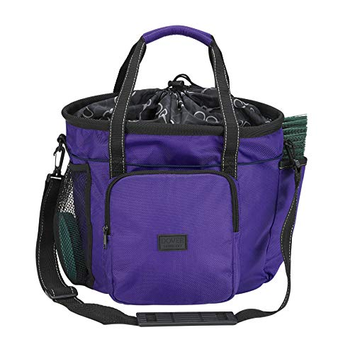 Dover Saddlery Bit-by Bit Deluxe Grooming Tote, One Size, Royal Purple/Bit by Bit Lining