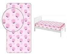 Peppa Pig – Sábana bajera 90 x 200 cm para cama individual 100% algodón