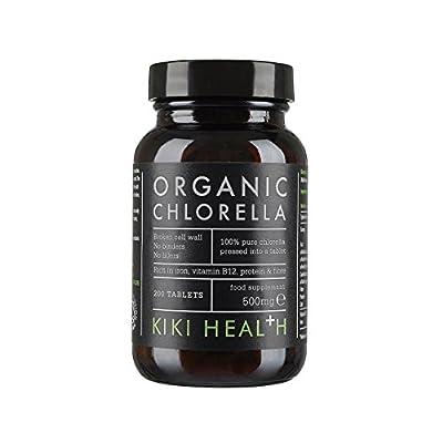 KIKI Health Organic Chlorella Tablets - 500mg Pack of 200 Tablets