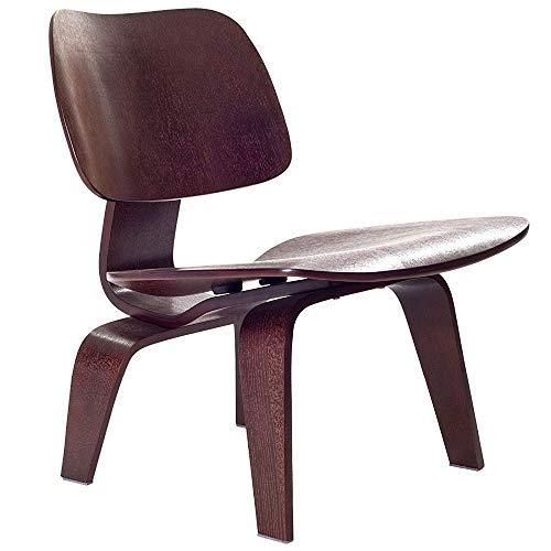 DWWSP Haus Dekoration Moderne Sperrholz-Lounge-Stuhl Wenge-Farbe Low-Lounge-Stuhl for Wohnzimmermöbel Mid Century Holz Akzent Freizeitstuhl Replik