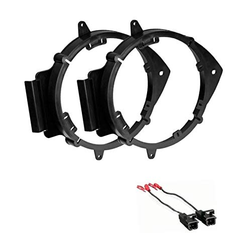 ASC 6+-Inch 6' 6.5' 6.75' Car Speaker Install Adapter Mount Bracket Plates and Speaker Wire Connectors for Select GM Chevrolet GMC Pontiac Saturn Vehicles - Compatible Vehicles Listed Below