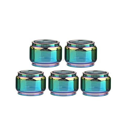 Denghui-ec 5 unids Burbujas Rectas Mini Vasos de Vidrio Aptos para Zeus RTA/Fit para Zeus Dual X Malla x/Ajuste para Zeus subhm Tube de Cristal (Color : Rainbow, tamaño : Fit for Zeus X Mesh)