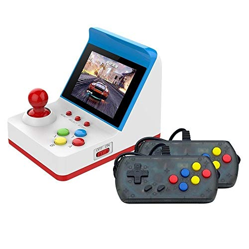 MIAOMIAOGI 1784687675 spelconsoles voor volwassenen, mini retro game speler met 3 inch HD-display 2 klassieke spelconsoles, draagbaar, 360 games