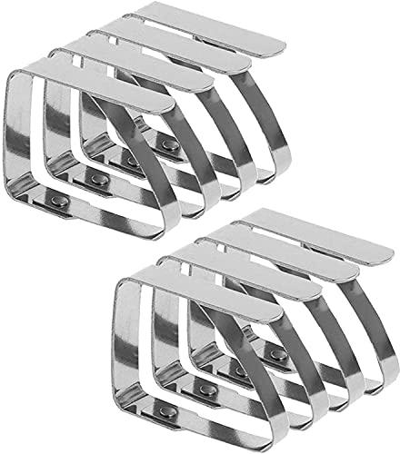 Emwel Fermatovaglia – 8 pezzi fermatovaglia in acciaio inox