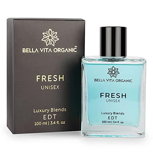 Bella Vita Organic Fresh Unisex Perfume For Men & Women with Woody Aquatic Scent EDT Fragrance, 100 ml
