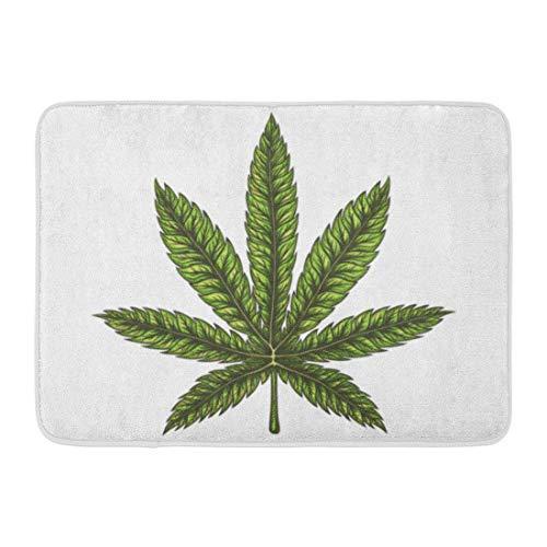 Fußmatten Bad Teppiche Outdoor/Indoor Fußmatte Aquarell Marihuana Cannabis Blatt handgezeichnete Bong Tattoo Zeichnung Unkraut Badezimmer Dekor Teppich Badematte