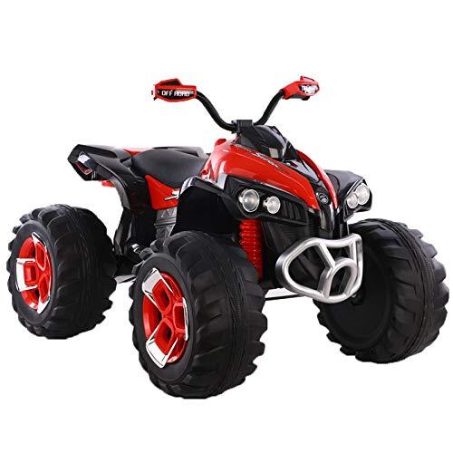 ATAA Quad eléctrico Infantil 12v - Rojo - Moto eléctrica para niños con Mando...