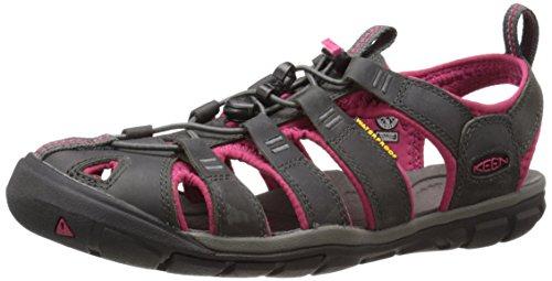 Keen Damen Clearwater CNX Leather Aqua Schuhe, Mehrfarbig (Magnet/Sangria 1014370), 38 EU