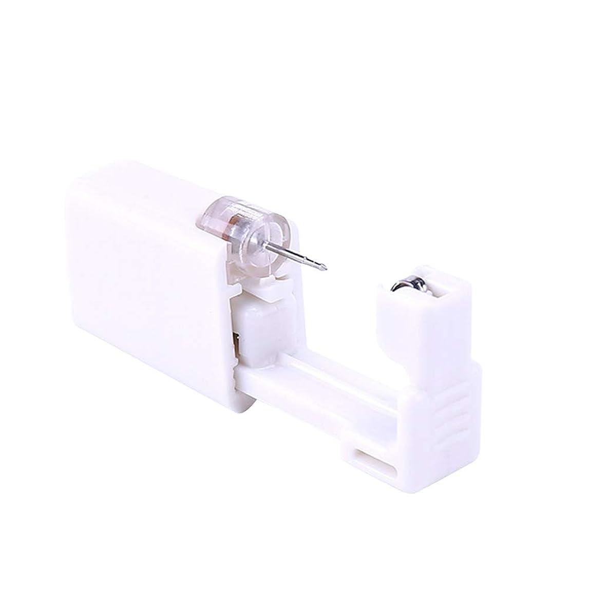 謎世界的に剥離SUPVOX 2本使い捨て耳ピアスガンボディピアスガンピアスツールピアスデバイス(ホワイト)