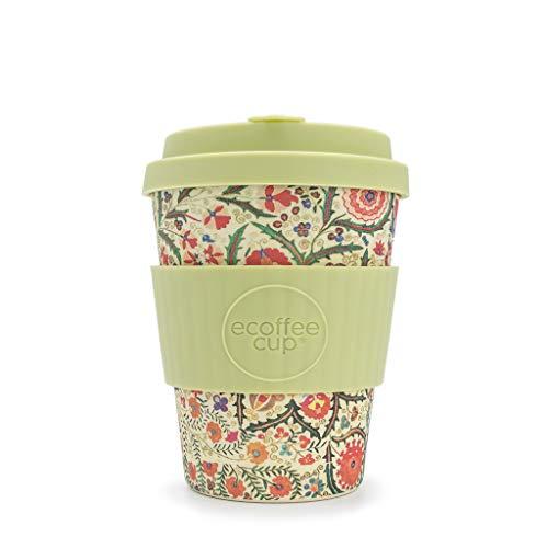 Ecoffee Cup Papafranco Kaffeetasse, 340 ml, aus Bambusfaser, tropfsicherer Deckel und spülmaschinenfest