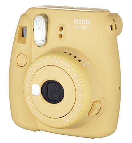 FUJIFILMインスタントカメラチェキinstaxmini8プラス接写レンズ・純正ハンドストラップ付きハニーINSMINI8PHONEY