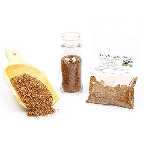 Sri Lanka Curry Gewürzmischung ohne Geschmacksverstärker   Currypulver in Premium-Qualität   unbehandelt & glutenfrei   25g