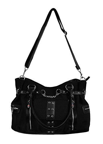 Schwarze Handtasche mit Riemen schwarz - Emo Punk - Banned