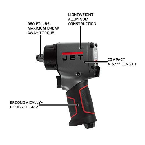 JET JAT-107, 1/2-Inch Pneumatic Impact Wrench (505107)
