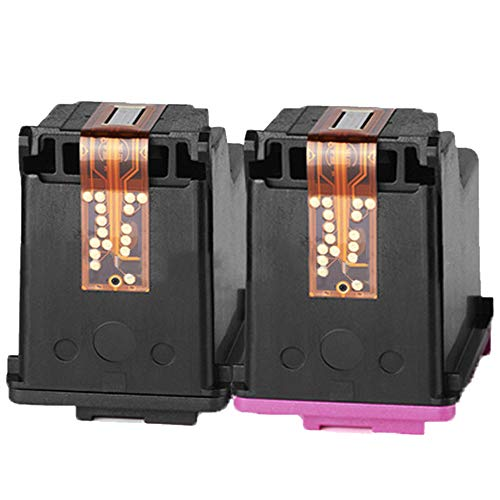1PCS negro + 1PCS Tri-Color tricolor recargable inyección de tinta de inyección de tinta reemplazo compatible con HP 63XL DESKJET 1110 1115 2130 2135 3630 3830 OfficeJet 4650 4520