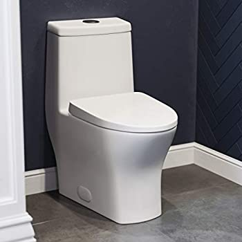 Swiss Madison SM-1T257 Sublime II Compact 24  Length One Piece Toilet Dual Flush 0.8/1.28 GPF with Side Holes