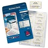 Avery España C32011-25 - Pack de 25 folios de tarjetas de visita, 85 x 54 mm, color blanco