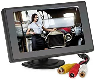 BW 4.3'' Color TFT Car Monitor Support 480 x 272 Resolution + Car Rear-View Mirror System Monitor, Mini Monitor for Car/Automobile