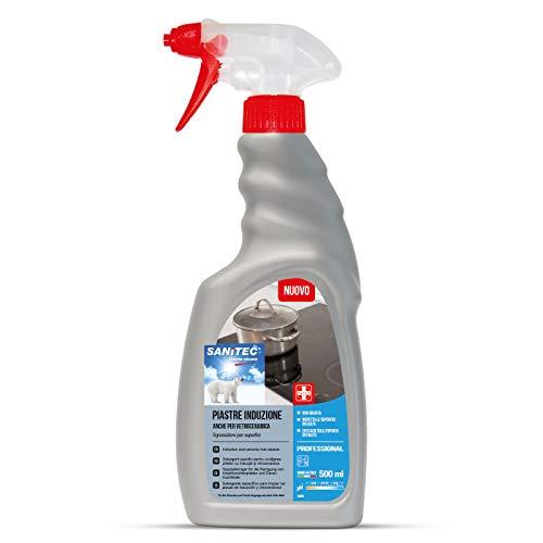 Sanitec 1836 Piastre Induzione e Vetroceramica, Detergente Specifico, Spray 500 Ml