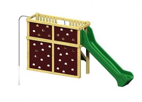 Winnetoo Pro Spielturm Variation 5 - öffentliche Spielanlage mit Feuerwehrstange und Rutsche
