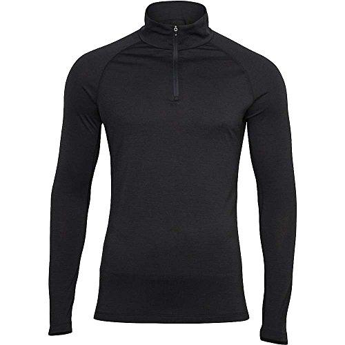 super natural Base 175 sous-vêtement Thermique Manches Longues 1/4 Zip Homme, Caviar, FR (Taille Fabricant : XL)