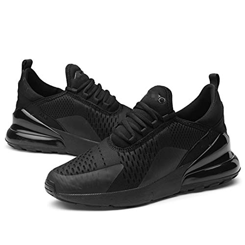 Oceansee Zapatos Deportivos para Hombre, cojín de Aire Transpirable, Suave, cómodo, para Correr, Zapatos Masculinos para Caminar al Aire Libre, Zapatillas de Gran tamaño All Black 6.5