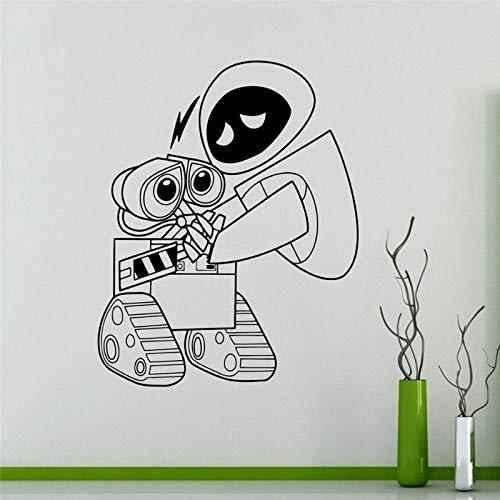 KDSMFA - Adhesivo decorativo para pared, diseño de robots de vinilo, ideal para decoración del hogar, para habitación de niños, para pared, 58 x 71 cm