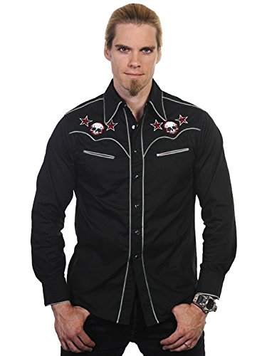 Banned Hemd Skull Shirt Black-White S