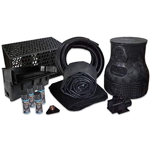 HALF OFF PONDS 10' x 30' Savio Pond Free 6100 EPDM Waterfall Kit w/MatrixBlox -...