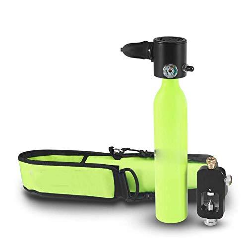 April Story Portátil Buceo Snorkel Escafandra autónoma Equipo Accesorio Mini Oxígeno Cilindro Adaptador 0.5L para Submarino Buceo Respirar Formación