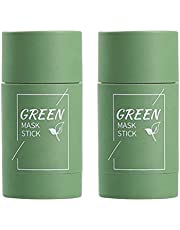 Holmeey Green Tea Purifying Clay Stick Mask Oil Control Anti-Acne Aubergine Fine Solid, Acne Cleansing Solid Mask Green Tea Diep reinigend hydraterend masker voor alle huidtypes